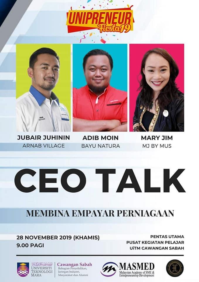 Jemputan Sebagai Panel Forum Keusahawanan Di Unipreneur Fiesta UiTM Sabah