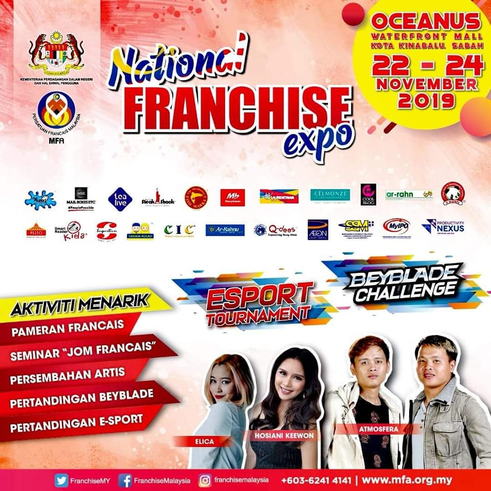 National Franchise Expo Zon Sabah Di Oceanus Watefront Mall 22-24 Nov 2019